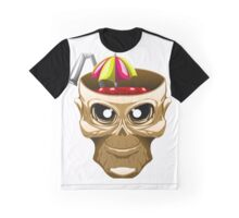 skull fruit punch funny vector art yummy brain juice Graphic T-Shirt