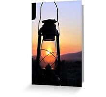 Sunrise In the Lamp Greeting Card