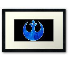 Rebel Alliance blue starbird Framed Print