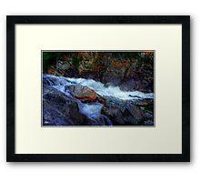 Banded Rock at Livermore Falls Framed Print