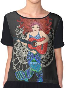 Musical Mermaid Chiffon Top