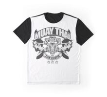 muay thai boxing logo thailand martial art siam fighter Graphic T-Shirt