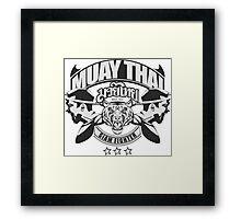 muay thai boxing logo thailand martial art siam fighter Framed Print