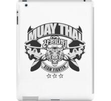 muay thai boxing logo thailand martial art siam fighter iPad Case/Skin