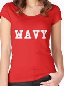 Wavy Women's Fitted Scoop T-Shirt