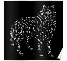 Ghost Game Of Thrones Direwolf Design Poster