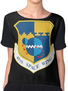 45th Space Wing Logo Chiffon Top