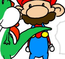 Mario and Yoshi Sticker