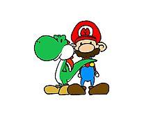 Mario and Yoshi Photographic Print