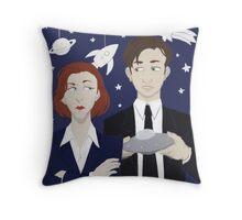 X Files Throw Pillow
