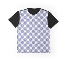Blue Wire Lace Graphic T-Shirt