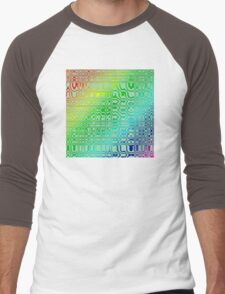 Abstract in Color Men's Baseball ¾ T-Shirt