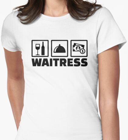 Waitress Womens Fitted T-Shirt