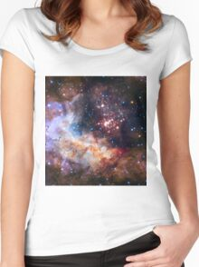 Hubble's 25th Birthday Gift to Us! Women's Fitted Scoop T-Shirt