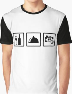 Server waiter Graphic T-Shirt