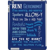 Doctor Who Quoted iPad Case/Skin
