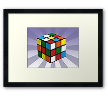 Puzzle Cube Framed Print