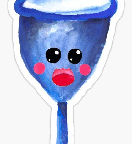 Cute Gouache Menstrual Cup Sticker