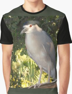 Rooftop heron Graphic T-Shirt