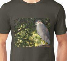 Rooftop heron Unisex T-Shirt