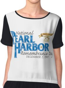 Pearl Harbor Remembrance Day 75th Anniversary Logo Chiffon Top