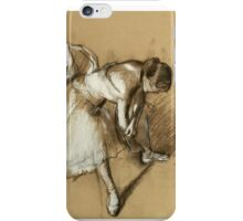 Edgar Degas - Dancer Adjusting Her Shoe iPhone Case/Skin