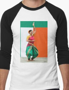 Tribute to India, (please read notes) Men's Baseball ¾ T-Shirt