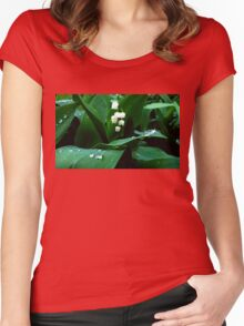 Lily of the Valley.  Women's Fitted Scoop T-Shirt