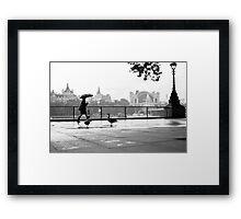 South Bank, London Framed Print