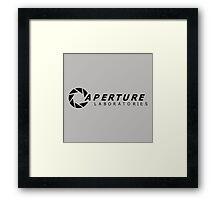 aperture laboratories Framed Print