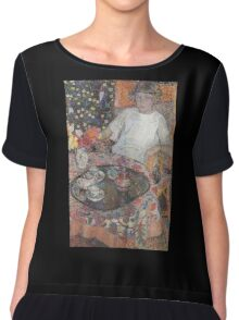 Leon De Smet - A Girl By The Table  Chiffon Top