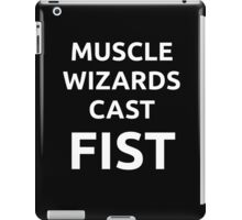 Muscle Wizards Cast FIST - White Text iPad Case/Skin