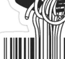 spaghetti bar code Sticker
