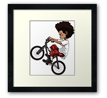 Hood Street Bike Framed Print