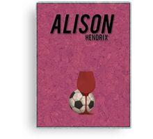 Alison Hendrix minimalist poster Canvas Print