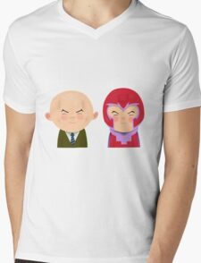 X-Men Animated Series: Professor X and Magneto Mens V-Neck T-Shirt