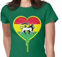 RASTA BLEEDING HEART Womens Fitted T-Shirt
