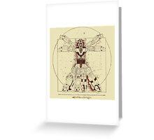 Voltruvian Man Greeting Card