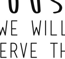 As for me and my house we will serve the Lord Sticker