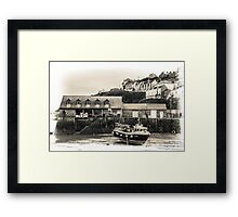 Harbour Office and Boat - Cornwall Framed Print