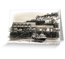 Harbour Office and Boat - Cornwall Greeting Card
