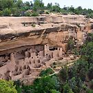Cliff Palace Panorama, Mesa Verde by Catherine Sherman