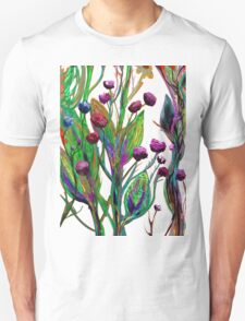 Colourful Flowers Art T-Shirt