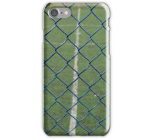 Blue Chain Link Fence iPhone Case/Skin