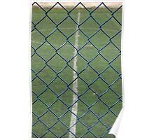 Blue Chain Link Fence Poster