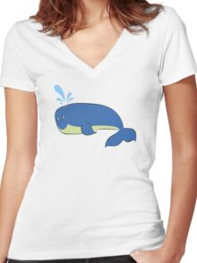 Another blue wale  Women's Fitted V-Neck T-Shirt