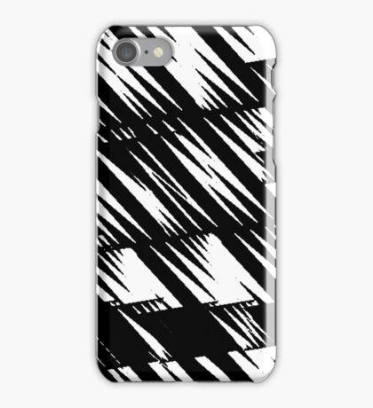 Zacken schwarz iPhone Case/Skin