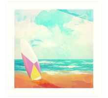 Time for surfing! Art Print
