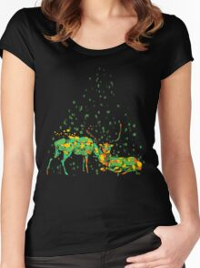 deers in disguise Women's Fitted Scoop T-Shirt