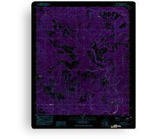 USGS TOPO Map Alabama AL Brooklyn 303340 1982 24000 Inverted Canvas Print